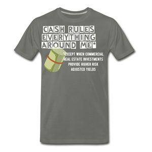 Cash Rules Everything* Tee - asphalt gray