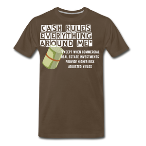 Cash Rules Everything* Tee - noble brown