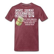 Load image into Gallery viewer, Cash Rules Everything* Tee - heather burgundy
