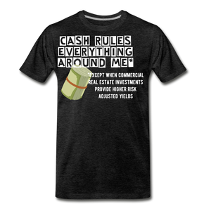 Cash Rules Everything* Tee - charcoal gray
