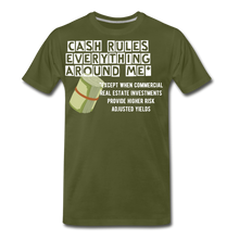 Load image into Gallery viewer, Cash Rules Everything* Tee - olive green