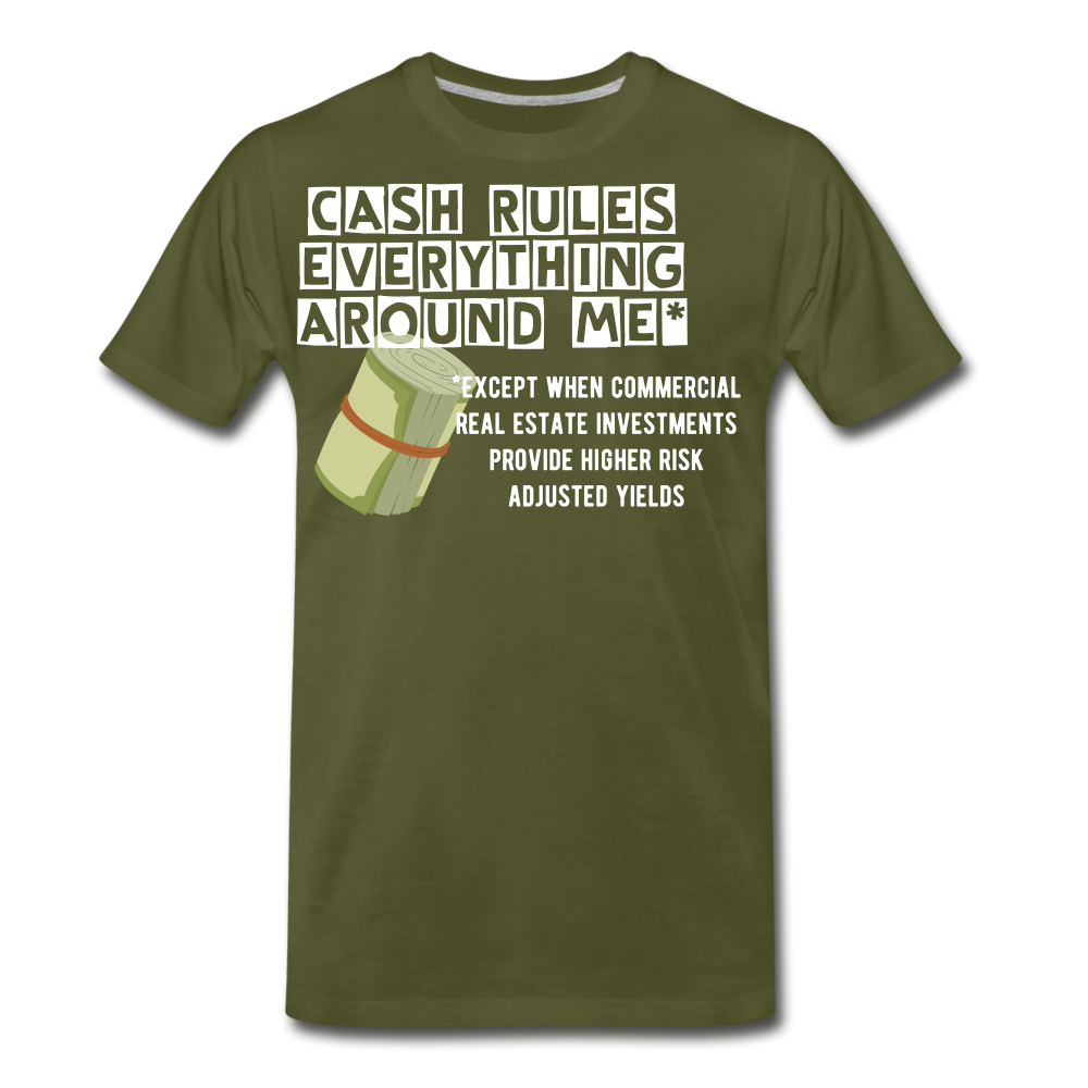 Cash Rules Everything* Tee - olive green
