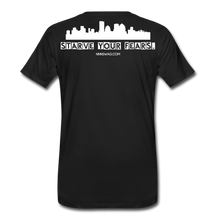 Load image into Gallery viewer, Feed Your Dreams; Starve Your Fears Tee - black