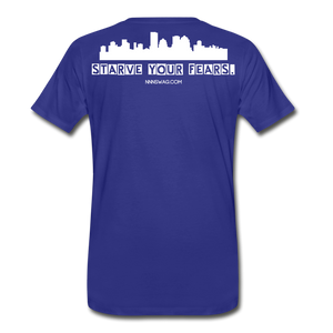 Feed Your Dreams; Starve Your Fears Tee - royal blue