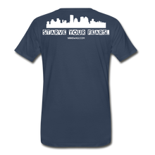 Load image into Gallery viewer, Feed Your Dreams; Starve Your Fears Tee - navy