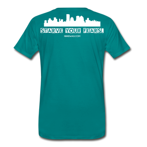 Feed Your Dreams; Starve Your Fears Tee - teal
