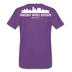 Feed Your Dreams; Starve Your Fears Tee - purple