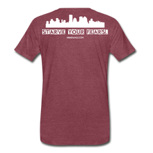Load image into Gallery viewer, Feed Your Dreams; Starve Your Fears Tee - heather burgundy