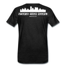 Load image into Gallery viewer, Feed Your Dreams; Starve Your Fears Tee - charcoal gray