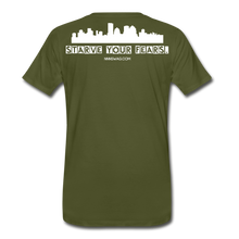 Load image into Gallery viewer, Feed Your Dreams; Starve Your Fears Tee - olive green