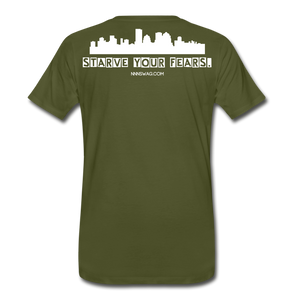 Feed Your Dreams; Starve Your Fears Tee - olive green