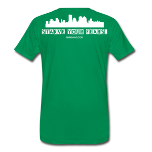 Feed Your Dreams; Starve Your Fears Tee - kelly green