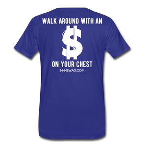 S on Your Chest Tee - royal blue