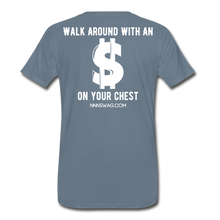Load image into Gallery viewer, S on Your Chest Tee - steel blue