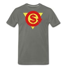 Load image into Gallery viewer, S on Your Chest Tee - asphalt gray