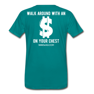 S on Your Chest Tee - teal