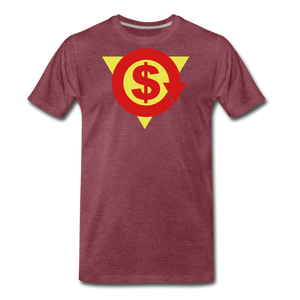 S on Your Chest Tee - heather burgundy