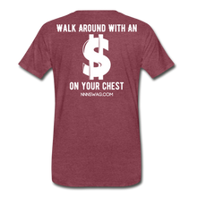 Load image into Gallery viewer, S on Your Chest Tee - heather burgundy
