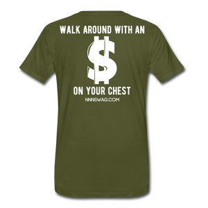 S on Your Chest Tee - olive green