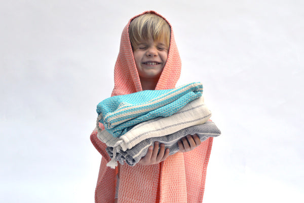 Kid's Turkish Towel Ponchos