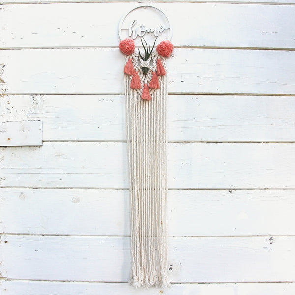 Design Your Own Custom Macrame Air Plant Holder with Tassels and Pom Poms