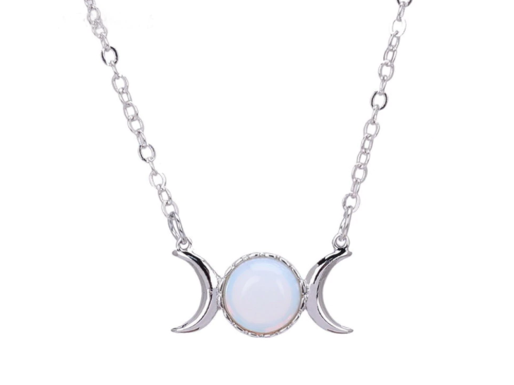 Triple Goddess with Opalite - Silver