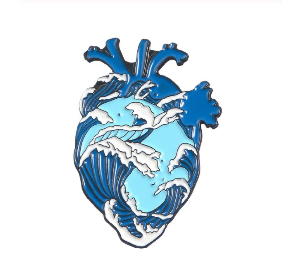 Heart with Waves - Enamel Pin