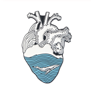 Hearth with a Whale - Enamel Pin