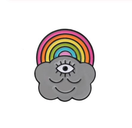 Rainbow with a Cloud - Enamel Pin