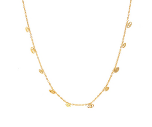 Eyes Choker Necklace - Gold