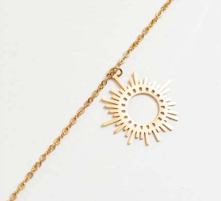 Sun Necklace - Gold