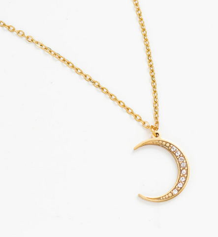 The Moon Necklace - Gold