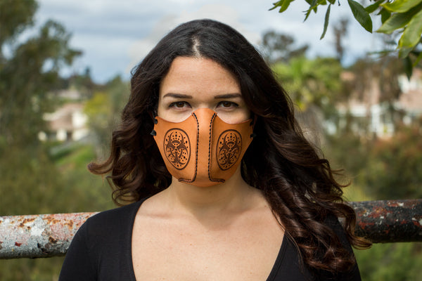 Leather Face Mask - Octopus - Customization Available