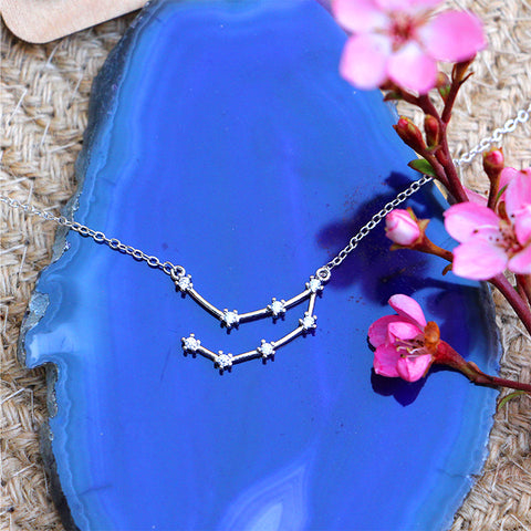 Zodiac Constellation Necklace - Capricorn - 925 Sterling Silver