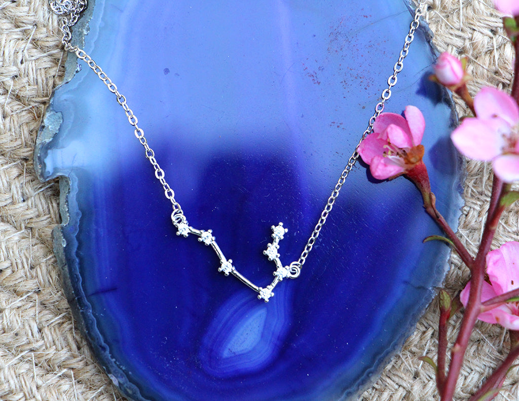 Zodiac Constellation Necklace - Gemini - 925 Sterling Silver