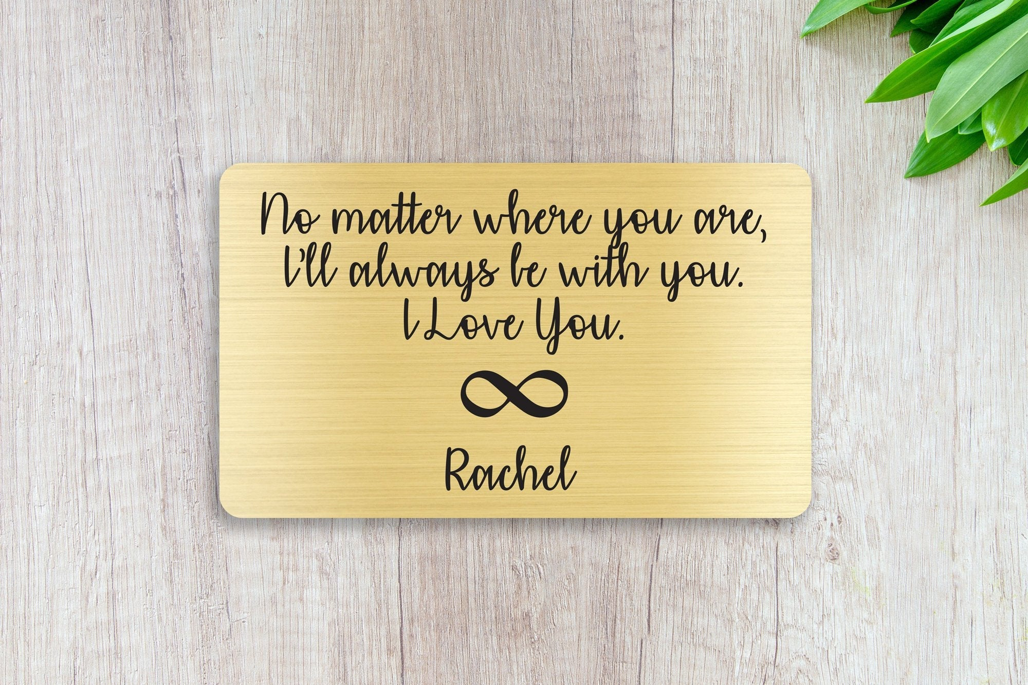 Personalized Wallet Card Insert, No Matter Where You Are, Gift For Lover, Gold