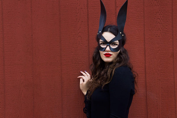 Black Bunny - Masquerade Party Leather Mask