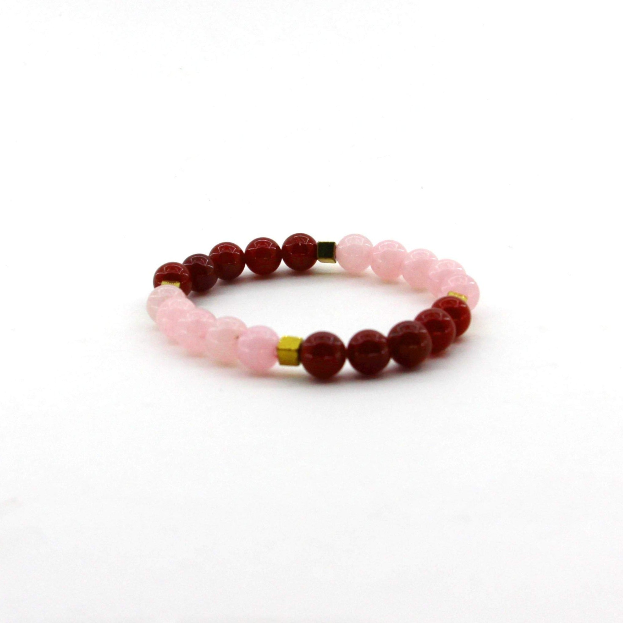 Fertility - Rose Quartz, Carnelian, Hematite - Gemstone Bracelet