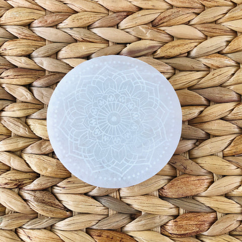 Selenite Disc - Radiate Bliss - Cleansing & Charging