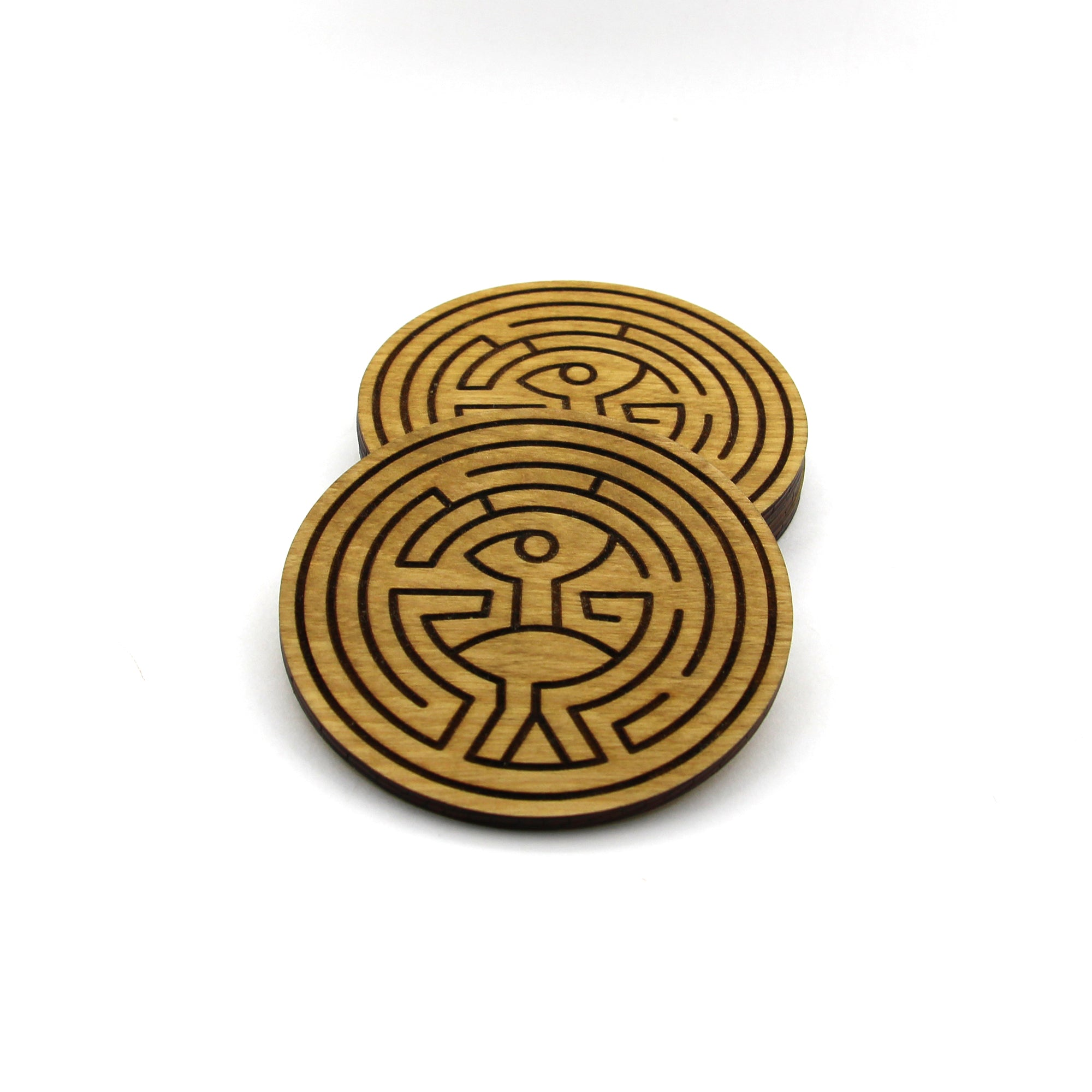 Wooden Maze Coasters - Set of 4