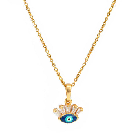 Minimal Eye Necklace - Rose Gold