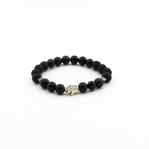 Protection Against Evil Spirits - Obsidian, Lava, Hematite, Hamsa - Gemstone Bracelet
