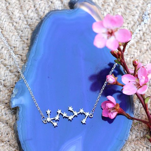Zodiac Constellation Necklace - Scorpio - 925 Sterling Silver