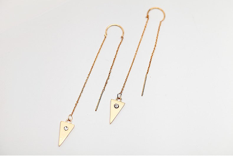 Triangle Drop Earrings - Gold