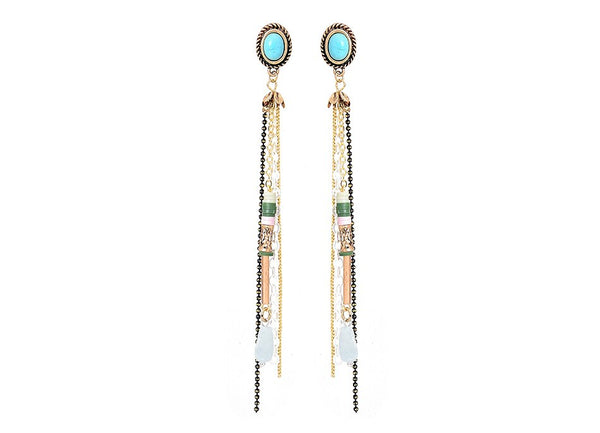 Vintage Dangle Earrings with Turquoise