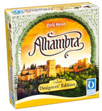 "3D graphic of the Alhambra ""Designers Edition"" game box."