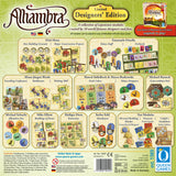 "Graphic of back of Alhambra ""Designers Edition"" game box."