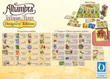 "Graphic of back of Alhambra ""Designers Edition"" - MegaBox game box."