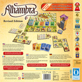 "Graphic of back of Alhambra ""Revised Edition"" game box."