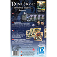 Graphic of back of Rune Stones - Expansion 1 game box.